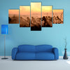 War Concept, Military Silhouettes Multi Panel Canvas Wall Art