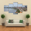 The largest city in the Cote d'Ivoire Plateau downtown Multi panel canvas wall art