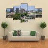 Plateau, the downtown area, stadium the view of Abidjan Multi panel canvas wall art