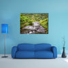 Beautiful long exposure view of the waterfall near the Santa Rosa Thermal Spa in Santa Rosa de Cabal in Colombia Multi Panel Canvas Wall Art