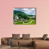 Panoramic view of the Mayan ruins of Palenque in Mexico multi panel canvas wall art