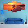 Beautiful Sunset At Maldivian Beach Multi Panel Canvas Wall Art