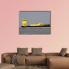700 TEU container ships Borussia Dortmund on the river Elbe wall art