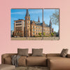 City hall am Market place in Wiesbaden, Germany multi panel canvas wall art