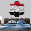 Closeup Yemen Flag hexagonal canvas wall art