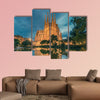 Barcelona, Catalonia, Spain, Basicila and Expiatory Church multi panel canvas wall art