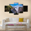 View of the Victoria Falls with rainbow in Zimbabwe, Africa Multi panel canvas wall art
