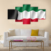 Waving Flag of Kuwait Multi Panel Canvas Wall Art