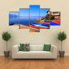 Coastal Print Of Ohrid, A Small City By The Lake Ohrid in Macedonia, Multi Panel Canvas Wall Art