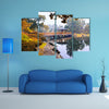 Most beautiful view of Japanese garden multi panel canvas wall art