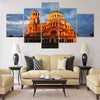 Night view of Alexandr Nevski Cathedral in Sofia Multi panel canvas wall art