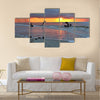 Amazing sunset in African Congo Multi panel canvas wall art