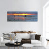Amazing sunset in African Congo panoramic canvas wall art