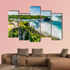 Water rushing over Niagara Falls, New York USA Multi panel canvas wall art