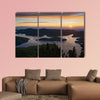 Sunrise at the Plastiras artificial lake in Thessaly, Greece Multi panel canvas wall art