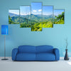 View on mountain landscape by Minca in Colombia Multi Panel Canvas Wall Art