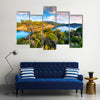 A Mediterranean SeascapeIn Turkey Is A Complete Code Of Aristic Style Art, Multi Panel Canvas Wall Art