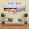 Palm trees on one of the beaches of somone, in the coastal region of Mbour, Senegal Multi Panel Canvas Wall Art