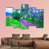 Road on mountain, Thailand multi panel canvas wall art