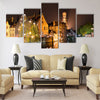 Historic Medieval City of Bruges Multi panel canvas wall art