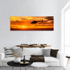 Bell 206 at sunset panoramic canvas wall art