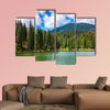 Mountain Lake Synevir among the green spruce forest wall art