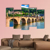 Panoramic view of Heidelberg town, old bridge and houses, wall art