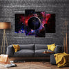 When Earth Is Viewed In Space And Galaxy Multi Panel Canvas Wall Art