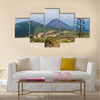 Cerro Verde volcano (left), Izalco volcano (right), El Salvador Multi Panel Canvas Wall Art