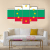 Bulgaria national flag Multi panel canvas wall art