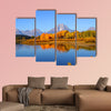 Grand tetons national park from Oxbow bend Multi panel canvas wall art