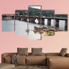 The Burguillo Reservoir located in the sub basin of the river Avila Multi Panel Canvas Wall Art