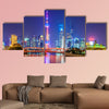 Architectural landscape of Lujiazui, the Bund, Shanghai multi panel canvas wall art