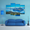 Stunning views of Lake District from viewpoint on top of Cerro Campanario, Argentina Multi panel canvas wall art