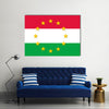 Hungary national flag with a star circle of EU Multi Panel Canvas Wall Art