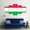 Beautiful Hungary national flag with a star circle of EU Multi Panel Canvas Wall Art