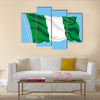 Developing flag of Nigeria Multi panel canvas wall art