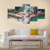 People bathing in a thermal pool Funtes Georginas Multi panel canvas wall art