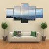 View over the crater of the active volcano Kilauea on the big island of Hawaii multi panel canvas wall art