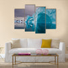 giant icebergs along the coastline of east greenland before sunrise multi panel canvas wall art