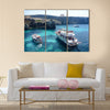 Azure Window, famous stone arch of Gozo island in the sun in summer Malta, Multi Panel Canvas Wall Art