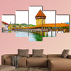 Chapel Bridge and Water Tower in Luzern, Switzerland multi panel canvas wall art