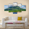 Nevis Peak a volcano in the Caribbean Multi panel canvas wall art