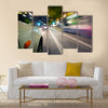 Car in motion blur Multi Panel Canvas Wall Art