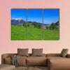 View from the foot of Mt. Stanserhorn in Switzerland multi panel canvas wall art