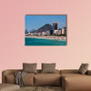 View of Copacabana Beach and Mountains in the Horizon, Rio de Janeiro multi panel canvas wall art