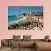 Copacabana Beach Full of People on Hot Summer Day in Rio de Janeiro multi panel canvas wall art