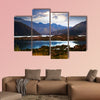 View of lake near Potrerillos and Andes mountains in summer day wall art