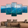 Wonderful aerial view of the mountains Multi panel canvas wall art