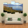 View Of A Lavaux Lake Covered With Green Mountains On Lake Geneva, Switzerland, Multi Panel Canvas Wall Art